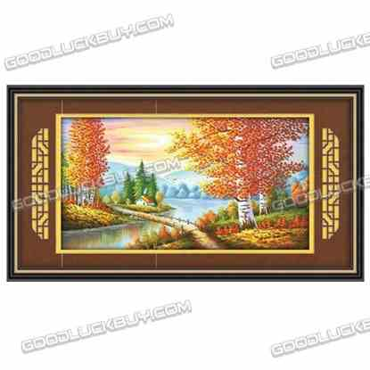 172x100cm Cross-Stitch Embroidery Kit for Living Room Decoration- Golden Autum