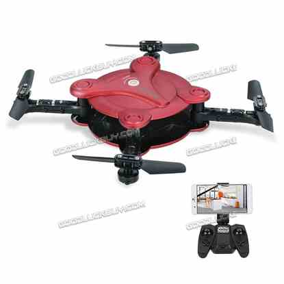 FQ777 FQ17W 6-Axis Gyro Mini Wifi FPV Pocket Drone 0.3MP RC Quadcopter Red