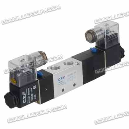 4V230C-08 AC110V Double Head 3 position 5 way Air Pneumatic Solenoid Valve