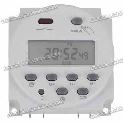 CN101 110V AC Digital Electronic Weekly Programmable Timer