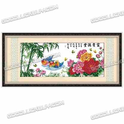 125x57cm Cross-Stitch Embroidery Kit for Living Room Decoration- Mandarin Duck