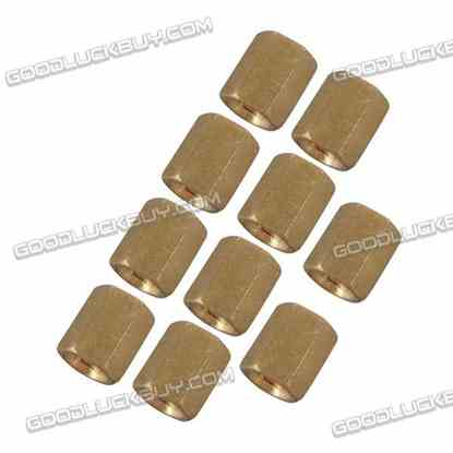 10pcs M3 x 6mm Brass Pillar Hex Spacer Female/Female Inner Thread