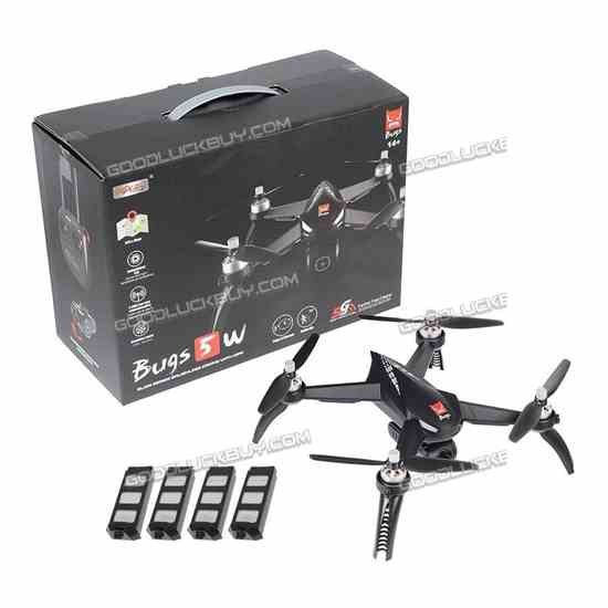 MJX Bugs 5W 1080P 5G Wifi FPV Camera GPS Positioning RC Drone wth 4 Battery