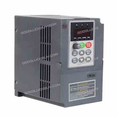 1.5KW 220V VFD Inverter 3HP 7A Frequency Variable Drive CNC Speed Control VSD Gray