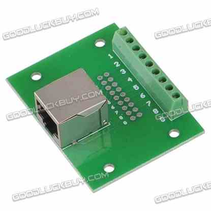 RJ45-01 Relay Adaption Plate RJ45 Wiring Terminal Connector Holder DIN C45