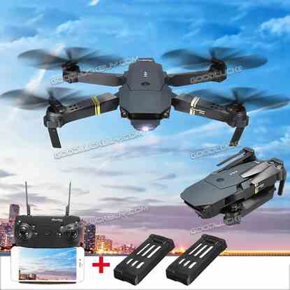Eachine E58 2MP 720P WIFI FPV Selfie Drone 2.4G 4CH RC Quadcopter w/ 2 Batteries