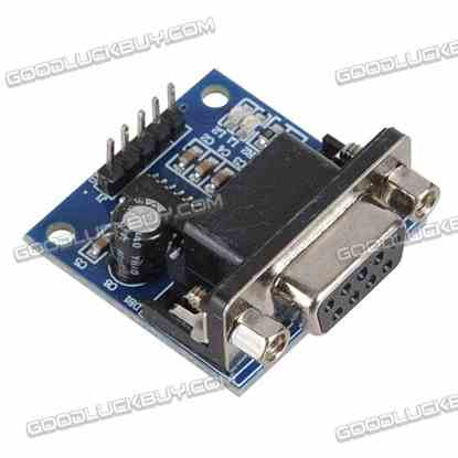 MAX3232 RS232 to TTL Serial Port Flash Board Module w/Dubond Cable