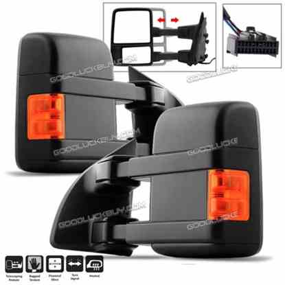 2Pcs 2008-2016 Ford F250~F550 Super Duty Power+Heated+Signal Tow Side Mirrors