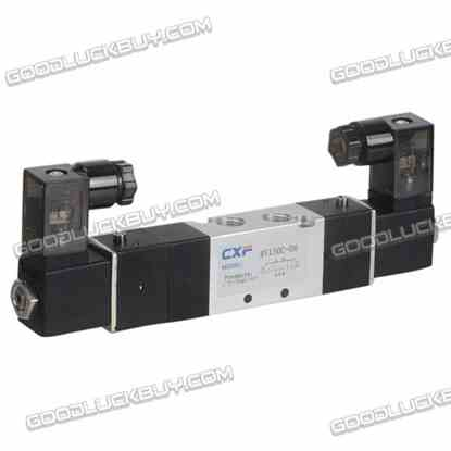 "4V130C-06 AC110V 3 position 5 way 1/8"" Air Pneumatic Solenoid Valve"
