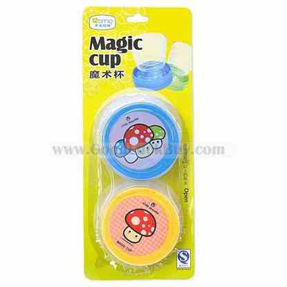 2 x Portable Plastic Magic Cup Travel Need Folding Cup