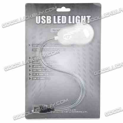 USB Flexible Snaky 10 LED Light Lamp with Switch for Laptop Notebook