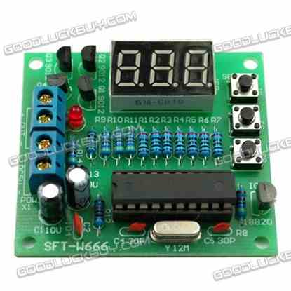 DIY Electronics AT89C2051+DS18B20 Digital Display Thermometer Temperature Controller Kit