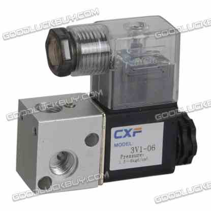 AC 110V 4.8W Two Position Three Way Pneumatic Control Air Solenoid Valve 3V1-06