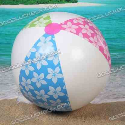 """5"""" Inflatable Toy Beach Ball Inflate Pool Happy Flower Ball (3-Pack)"""