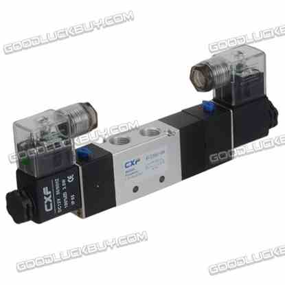 4V230C-08 DC12V Double Head 3 position 5 way Air Pneumatic Solenoid Valve