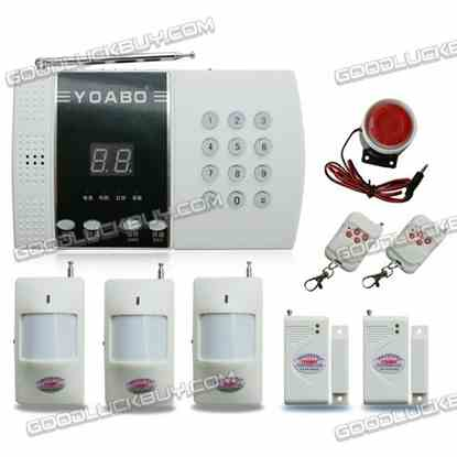 99 Zones Intelligent Household Wireless PIR Home Security Burglar Alarm System (Package A)