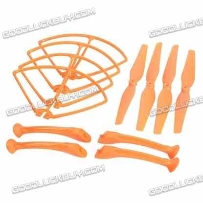 SYMA Propeller + Props Bumper Protector + Landing Gear for X8C X8W 1 Set Red