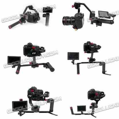 FD F2 V2 Handheld 3-Axis Brushless Gimbal Camera Mount with Dual Hand Holder Bracket for DSLR GH4 Canon 5D2
