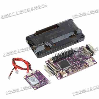 Side Pin APM2.6 ArduPilot Mega 2.6 External Compass APM Flight Controller w/ CJMCU-108-H LEA-6H GPS for Multicopter