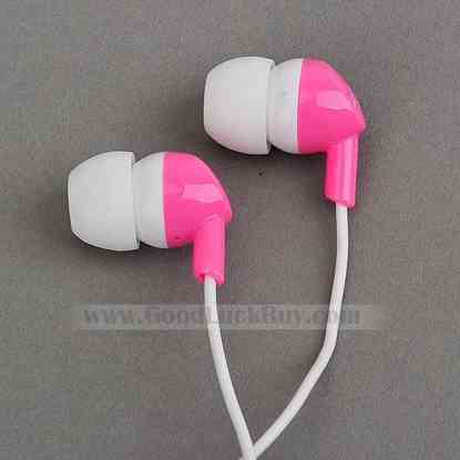 In-Ear Stereo Headphones Earphone for PC Laptop MP3 PMP 3.5mm Pink