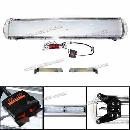 "47"" 88W LED Tow Truck Roof Emergency Warning Beacon Strobe Light Bar Red White"