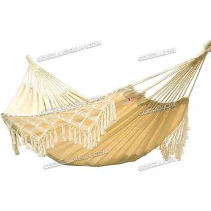 1.5*2M Double Hammock Strong Rope Swinging Hanging Chair Camping Beach Yard Patio