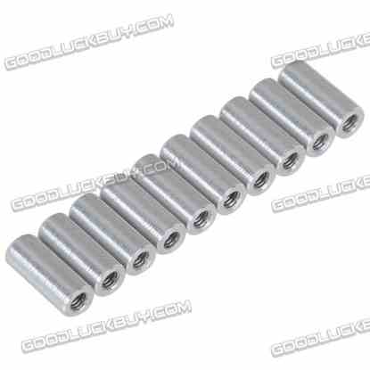 10pcs M3 x 6mm Aluminium Pillar Spacer Female/Female Inner Thread