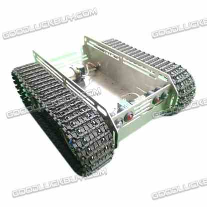 MC Robot Explorer Metal Track Tank Crawler Wali Chassis with Motor Stainless Steel