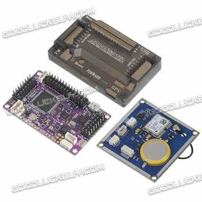 APM2.6 ArduPilot Mega 2.6 External Compass APM Flight Controller Board w/GPS for Multicopter Fixed-wing Copter