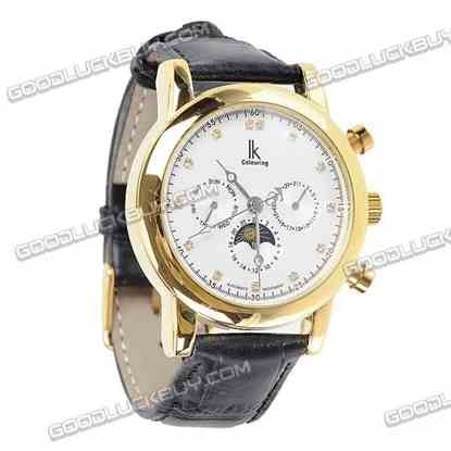 IK Colouring Automatic Mechanical Men Wrist Watch (Leather Belt) 98125