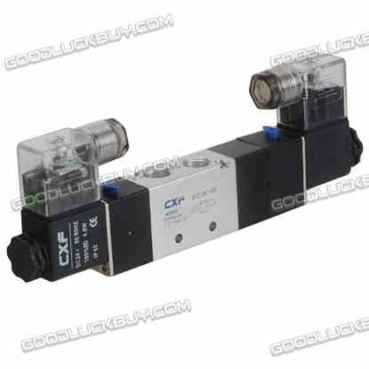 4V230C-08 DC24V Double Head 3 position 5 way Air Pneumatic Solenoid Valve