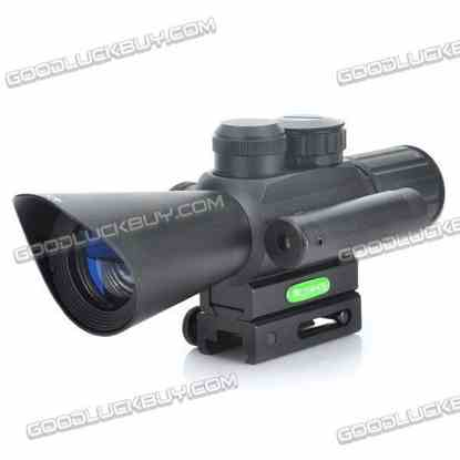 JGBGM7 4X 30mm Red/Green Mil-Dot Reticle Rifle Scope with Gun Mount