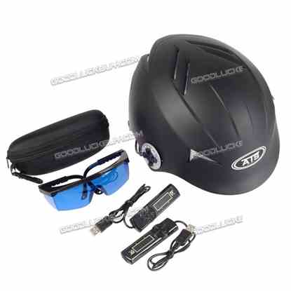 128 Diodes Laser Hair Loss Treatment Regrowth Promoter Cap Helmet Therapy Timer Black