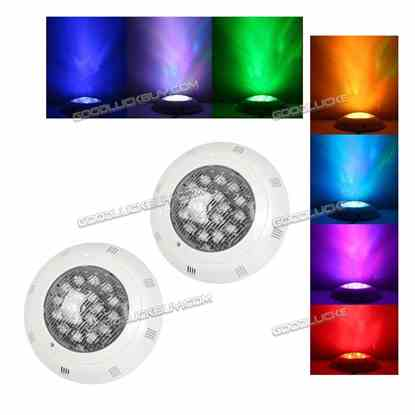 2Pcs 18W 24V LED RGB Underwater Swimming Pool Light w/ Remote Control