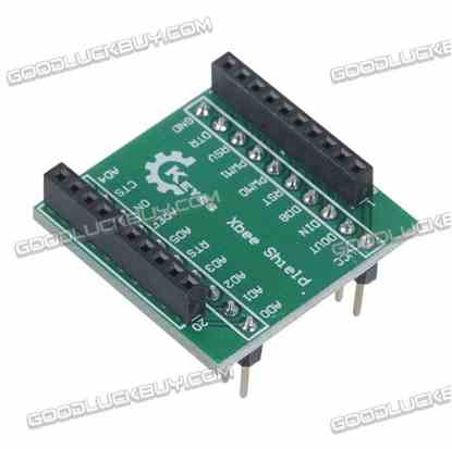 """KEYES 20-Pin 0.1"""" Spacing Female to 0.5"""" Spacing Male Adapter Board for Xbee Shield"""