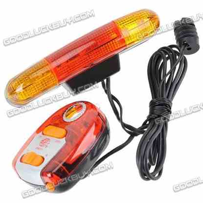 7-LED Turning Signal Lights with Electronic Horn for Bicycles (2*AA)