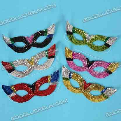 6 MARDI GRAS Ball & Party Costume Masquerade Mask for Kids
