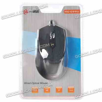 MC-099U Wired Optical Mouse For Computer Laptop Notebook Balck