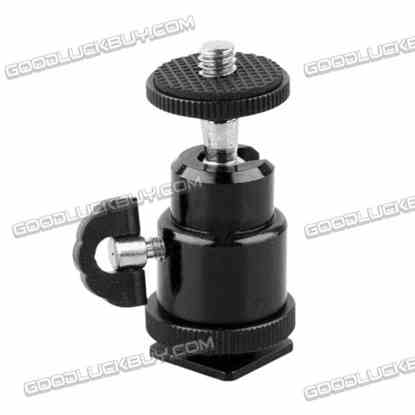 1/4 Inch Tripod Screw To Flash Hot Shoe 360 Degrees Angle Camera Adapter Holder for Photo Studio Accessories