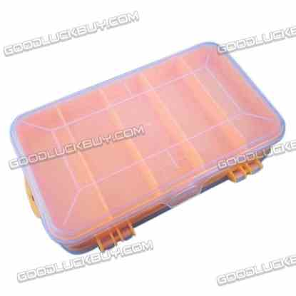 13 Slots Plastic Storage Box Double-Deck Tool Kit Case Multifuntion Box for DIY Parts