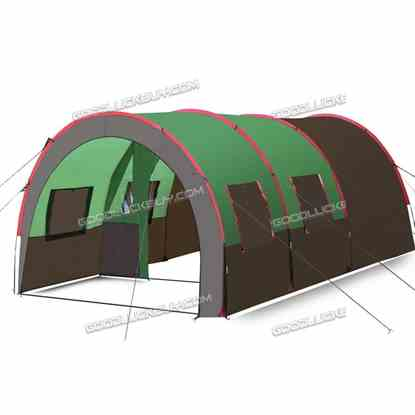 8-10 Person Waterproof Tunnel Tent for Camping Outdoor Party Family Travel Hiking