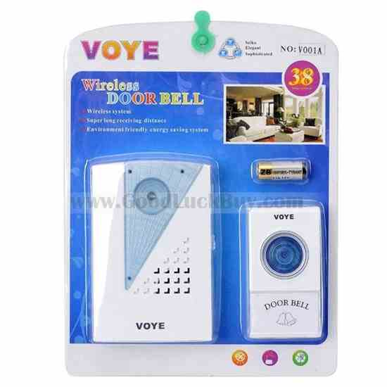 Wireless Remote Control Doorbell Door Chime 38 Melodies
