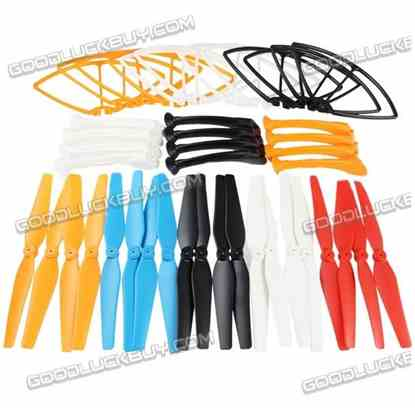 SYMA Propeller + Props Bumper Protector + Landing Gear for X8C X8W 1 Set Black