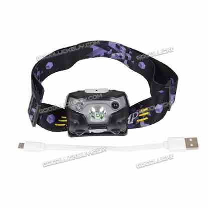 3500 Lumen LED Motion Sensor Headlamp Headlight USB Rechargeable Head Flashlight Black