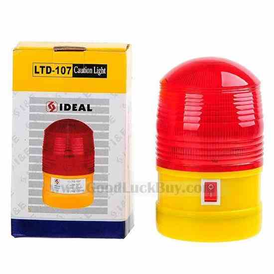 Police Detective Style Magnetic Car Roof Mount 6-LED Red-Flash Emergency Light (2*D)