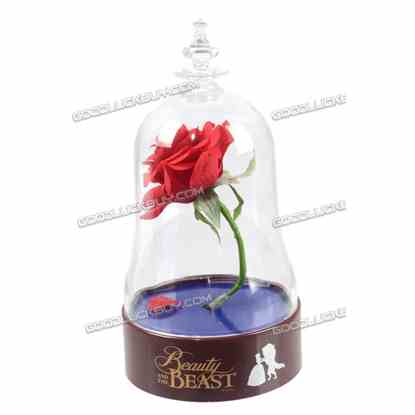 2017 Beauty And The Beast Rose in Class Lunimous Bell Night Family Gift Deco