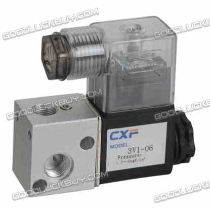 AC 220V 4.8W Two Position Three Way Pneumatic Control Air Solenoid Valve 3V1-06