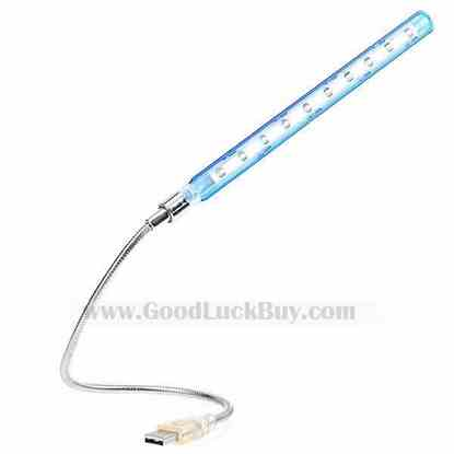 USB Flexible Snaky 10 LED Light Lamp for Notebook/Laptop