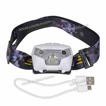 3500 Lumen LED Motion Sensor Headlamp Headlight USB Rechargeable Head Flashlight White