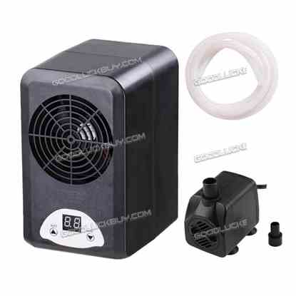 Aquarium Thermostat Chiller Heater Adjustable 72W Fish Tank +160GPH Water Pump